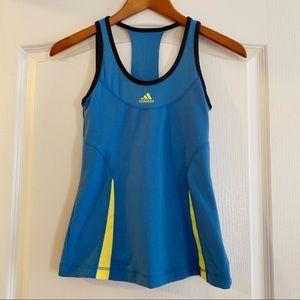 Blue small adidas workout tank